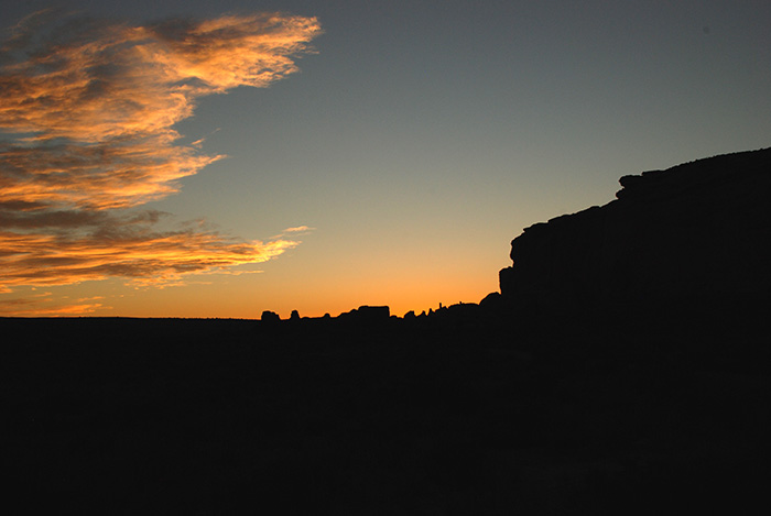 Sunset Chaco Canyon